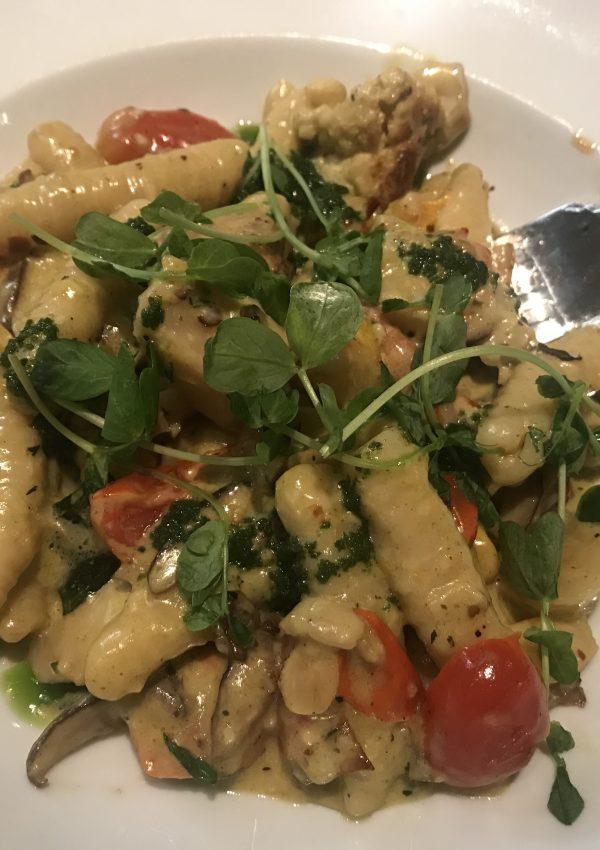 Luca's vegetarian dish