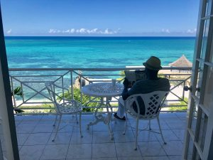 Beautiful view from balcony at SeaGarden Beach Resort in Montego Bay