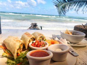 Burritos at Zulum Beach Restaurant