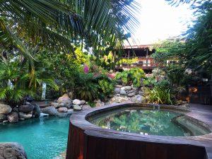 Pool and hot tub at Villa Sur Mer