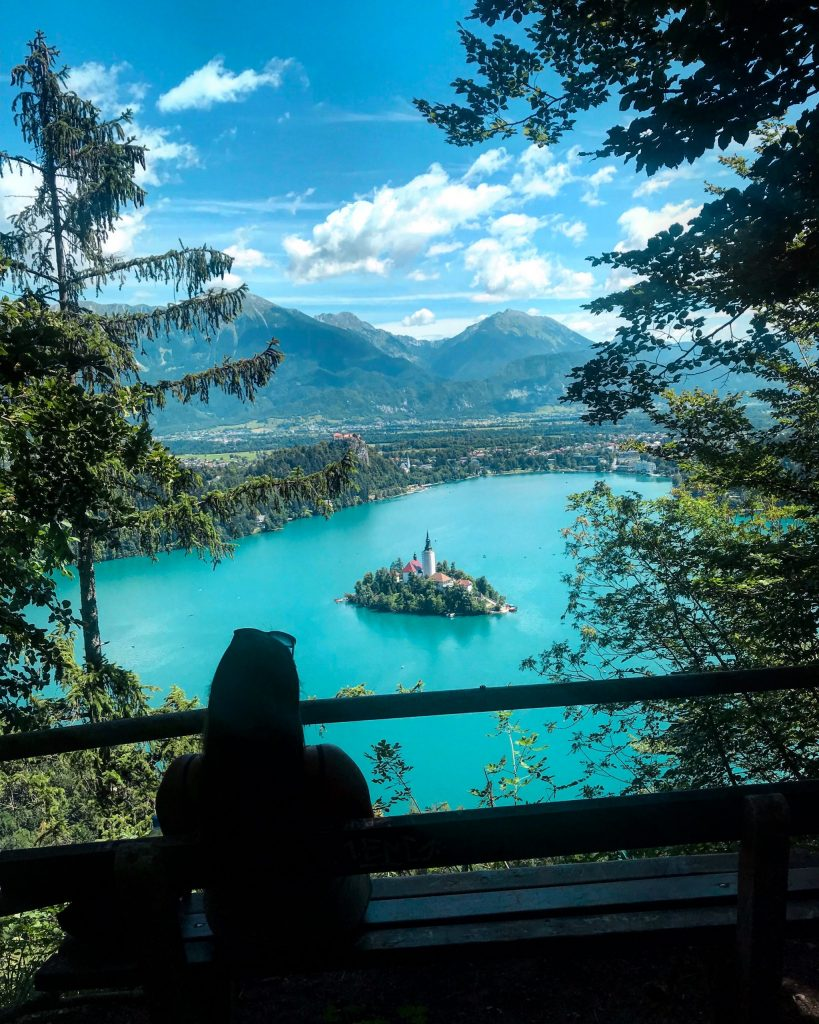 View of Lake Bled from hike
