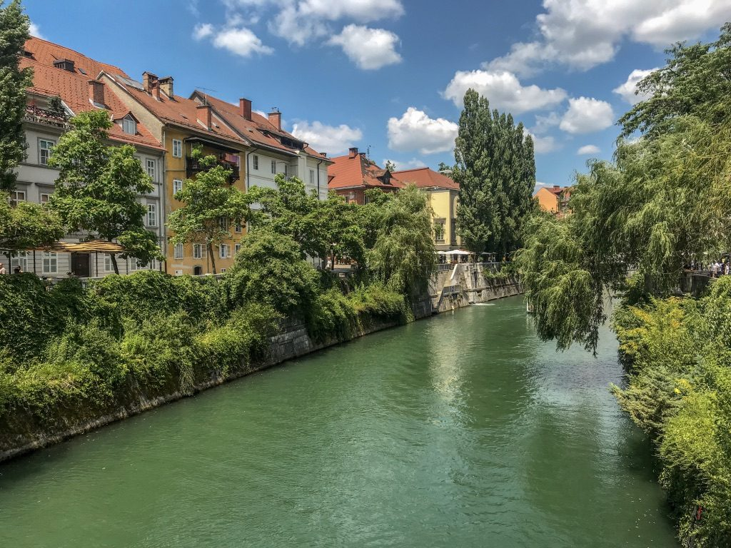 View of Ljubljana canal