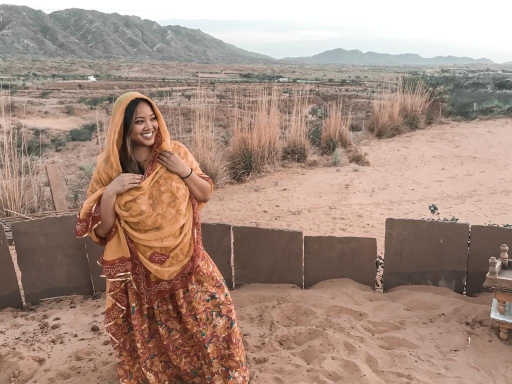 Me in Pushkar in a saree
