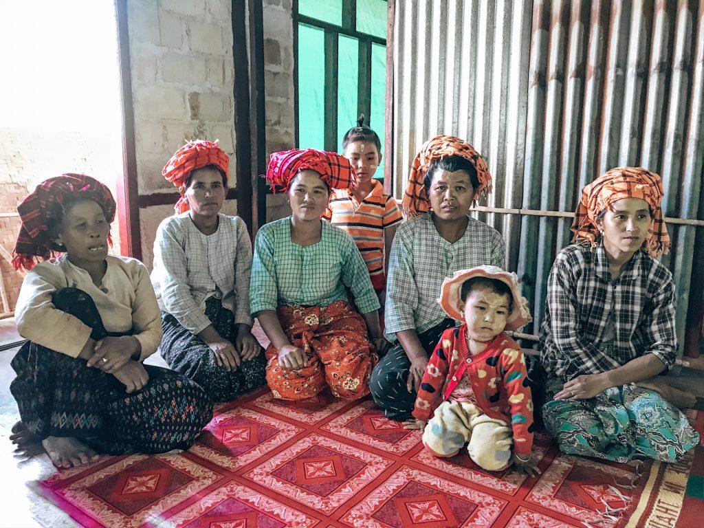 Locals in the village of Myanmar