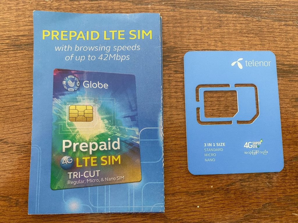Pamphlet with SIM card