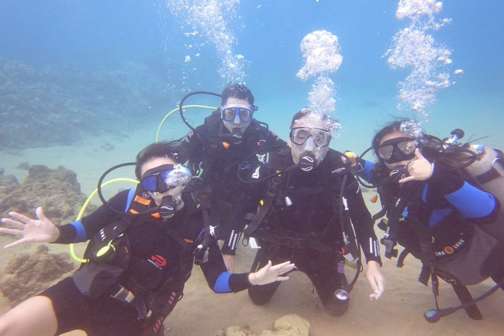 My family and I diving in Maui